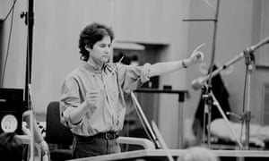 Horner in the studio, working on the score for Braveheart.