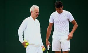 John McEnroe and Milos Raonic