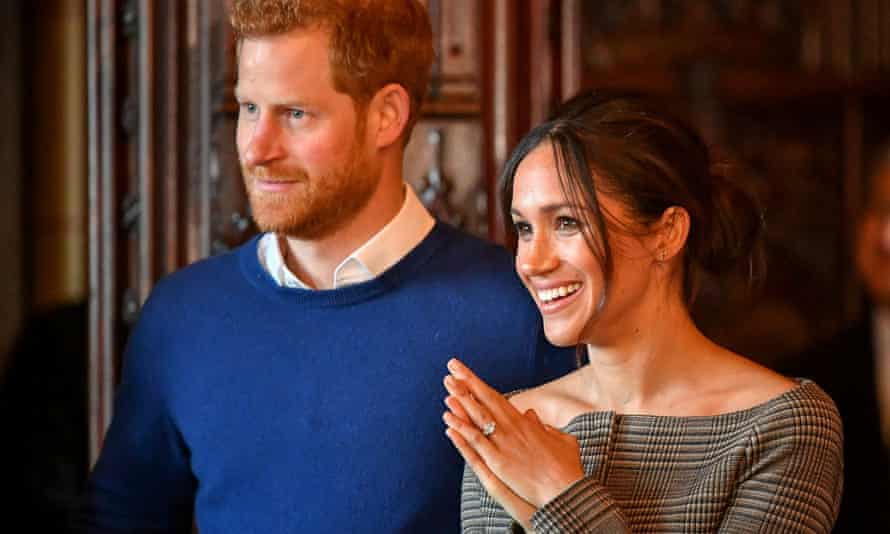 Prince Harry and Meghan Markle during a visit to Cardiff Castle in January.