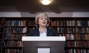 Theresa May launches her Conservative leadership campaign.