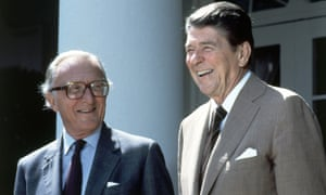 Lord Carrington with Ronald Reagan in 1984.