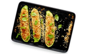 Felicity Cloake's perfect stuffed courgettes.