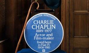 The blue plaque for Charlie Chaplin