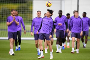 Son Heung-min and his Tottenham teammates prepare for the Champions League final.