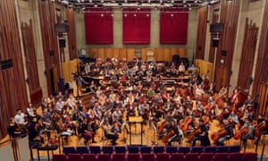 The Guildhall school's symphony orchestra with its full compliment of members from the EU