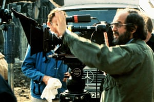 Stanley Kubrick working on set in Beckton.