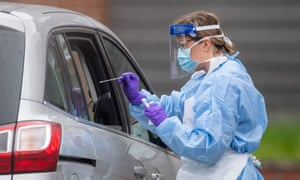 NHS medic carries out test