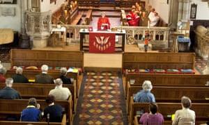 A service at St Mary's Church, Tenbury Wells