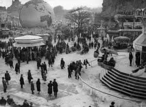 The amusement park at Wembley stadium during the British Empire Exhibition, circa 1925