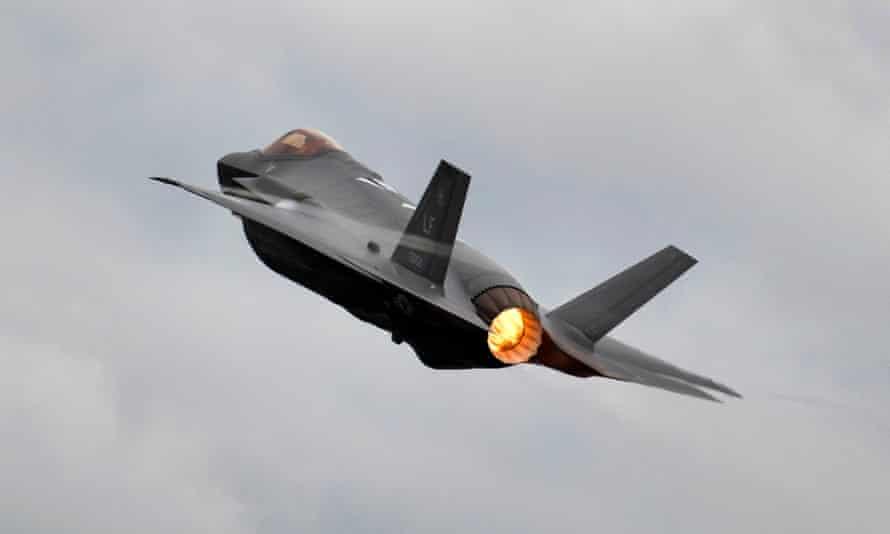 The Lockheed Martin F-35 Lighting II jet.