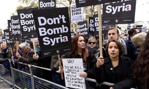 Don't bomb Syria demonstration, organised by the Stop the War Coalition in November 2015.
