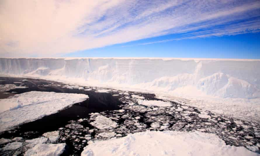 A handout picture released by British Antarctic Survey shows the Larsen C iceberg.