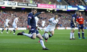 Finn Russell of Scotland in action