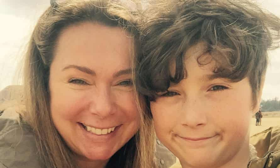 Holly Tucker, cofounder of notonthehighstreet.com, with her son, Harry.