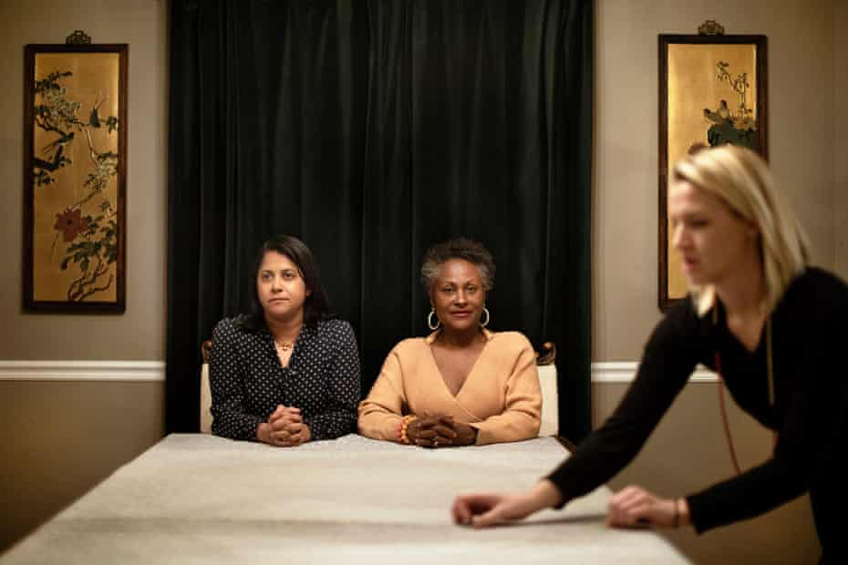 Saira Rao and Regina Jackson. 'Wealthy white women have been taught never to leave the dinner table.'