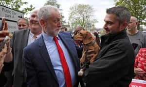 Jeremy Corbyn on the campaign trail in Great Yarmouth last week