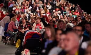 Delegates listening to speeches at the Labour party's annual conference in Liverpool.