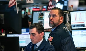 Traders on the floor of the New York Stock Exchange last week as shares plunged over concern about the spread of the coronavirus.