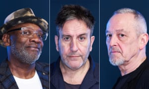 Lynval Golding, Terry Hall and Horace Panter of The Specials.