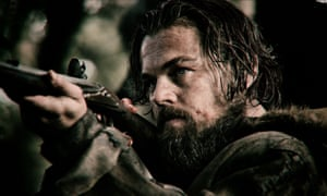 Leonardo DiCaprio as Hugh Glass in The Revenant.