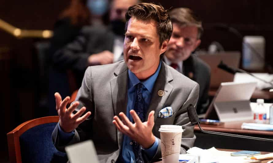 Matt Gaetz on Capitol Hill in Washington DC on 17 June 2020.