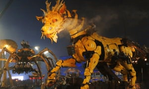 A giant mechanical dragon and spider will roam Ottawa's streets in July.