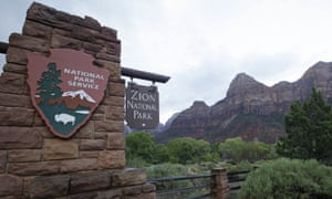 Zion national park in Utah, one of the country's most popular, received its first visitors in over a month this week as pandemic precautions were eased.