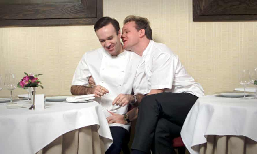 Marcus Wareing with Gordon Ramsay in happier times.