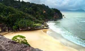A beach in Bako national park, Sarawak.