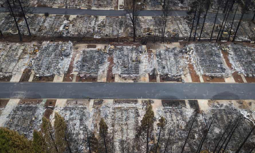 The Ridgewood mobile home park retirement community in Paradise, California, was leveled in the 2018 Camp fire.