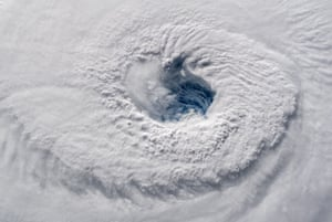 """""""Staring down a hurricane"""" from the International Space Station."""