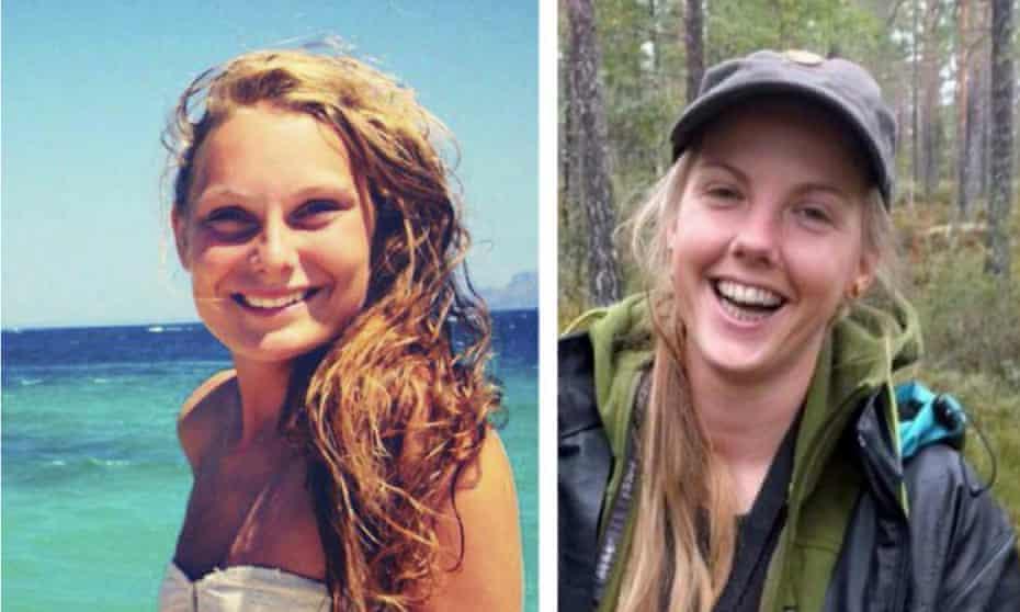 Danish student Louisa Vesterager Jespersen (left), 24, and 28-year-old Maren Ueland from Norway