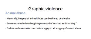 Facebook animal abuse policy