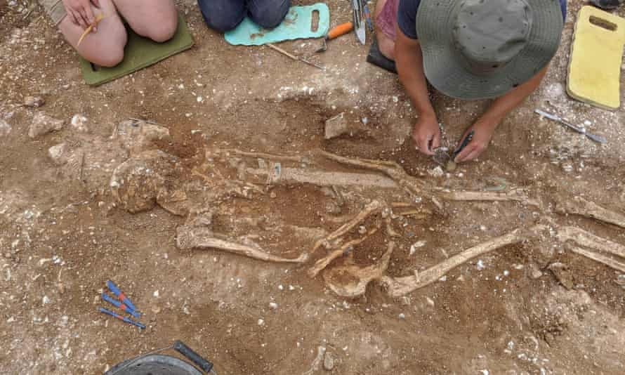 The remains of the Marlow Warlord are unearthed