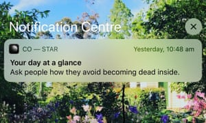 A notification from the astrology app, Co-Star