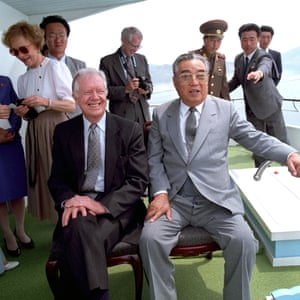 Pyongyang, 1994: The former US president Jimmy Carter shares a boat ride with the North Korean leader Kim Il-sung during his historic visit, weeks before Kim's death.