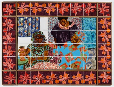 Mawuena Kattah's 48-piece tiled frieze