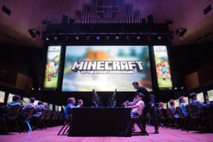 Australia's first Minecraft tournament at the Sydney Opera House concert hall.