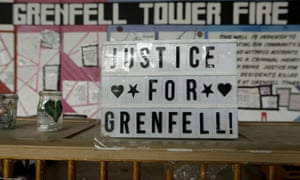 A tribute message for the 72 people who died in the Grenfell Tower fire in an underpass near the tower in London