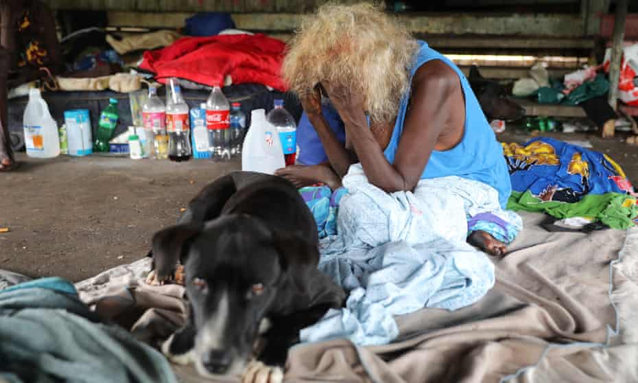 One Mile Dam, an Aboriginal community camp close to Darwin, where Indigenous people live in extreme poverty.