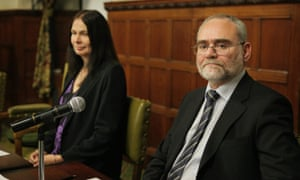 Brighton bomber Patrick Magee and Jo Berry at a Forgiveness Project talk in parliament in 2009.