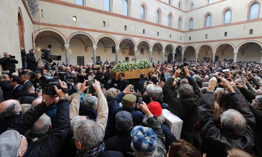 Umberto Eco's coffin