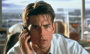 Tom Cruise as Jerry Maguire.