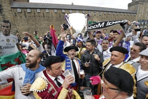 Real Madrid fans enjoy Cardiff before the 2017 Champions League final.