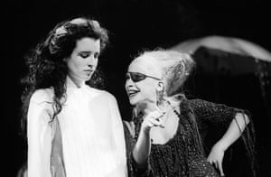 Susan Lynch as Marina and Kathryn Hunter as Bawd in Pericles