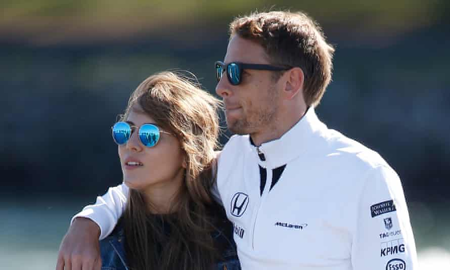 Jenson Button and his wife, Jessica