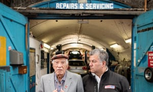 George Grant with his father Ronnie, who started his business 60 years ago in Clapham's railway arches.