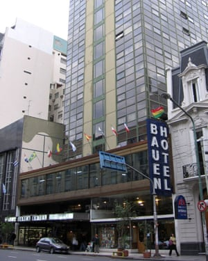 The Hotel Bauen in Buenos Aires.