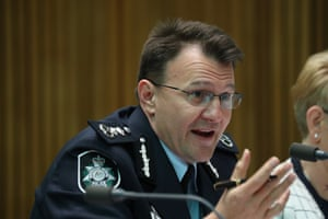 The commissioner of the AFP Reece Kershaw appears before the senate Legal and a Constitutional Affairs committee