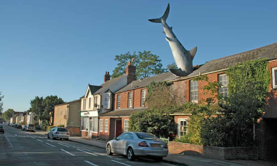 The project's inspiration … the Headington shark in Oxford.